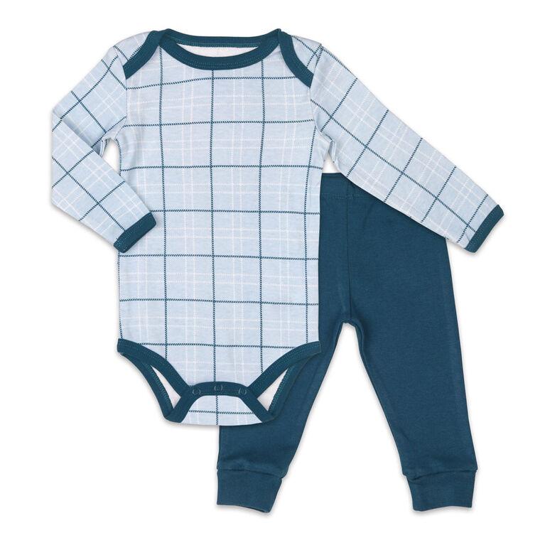 Koala Baby Bodysuit and Pants Set, Plaid - 12 Months