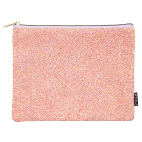 Style Lab Chunky Glitter Pouch - Rose