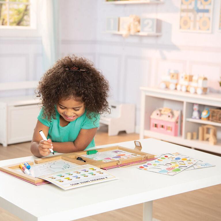 Melissa & Doug Natural Play: Play, Draw, Create Reusable Drawing & Magnet Kit - Princesses