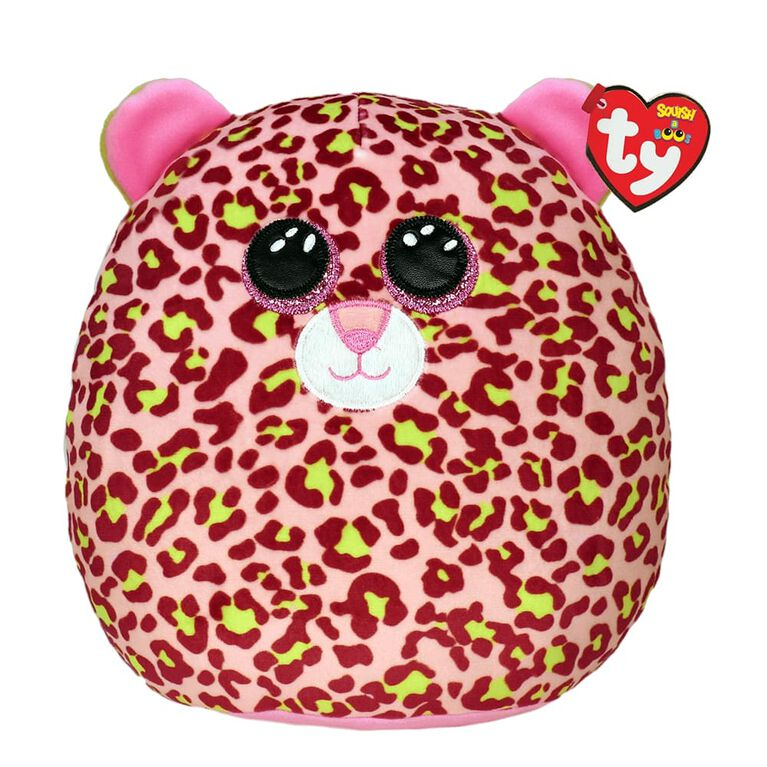 Ty Squish Lainey Pink Leopard 10 inch