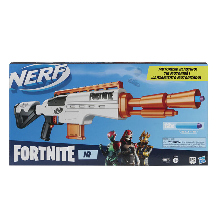 Nerf Fortnite IR Motorized Blaster - Dart-Blasting Fortnite Blaster Replica - R Exclusive