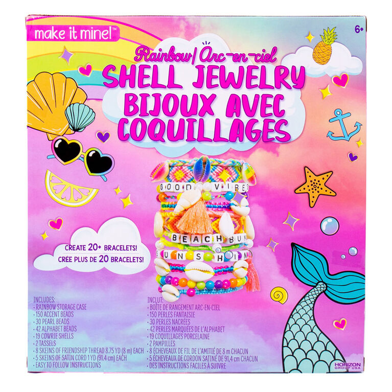 Make It Mine Rainbow Shell Jewelry