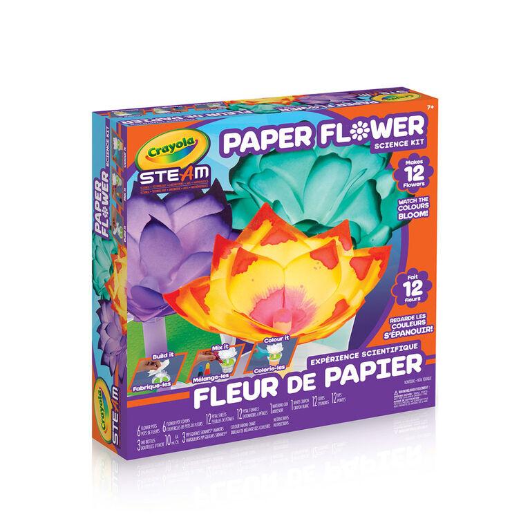 Expérience scientifique Fleur de papier Crayola