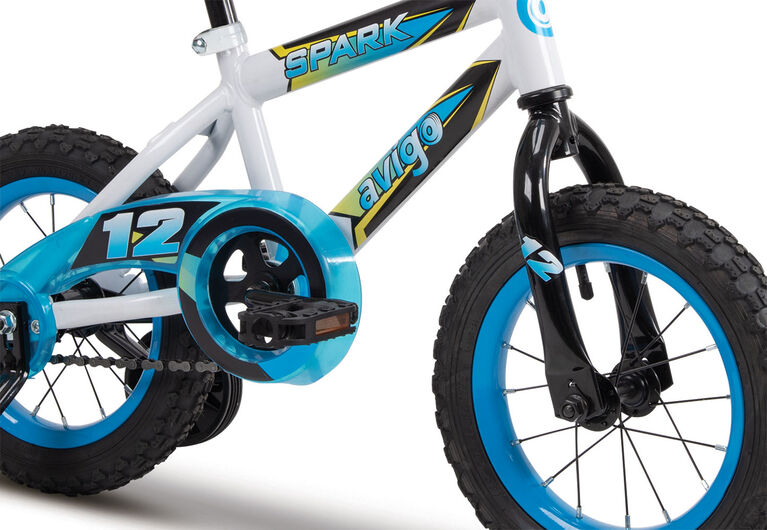 Avigo Spark Bike, Blue and White - 12 inch