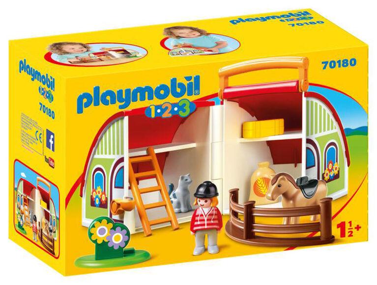 Playmobil 1.2.3. My Take-Along Farm 70180