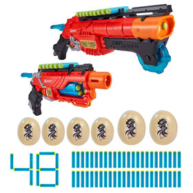 X-Shot Dino Attack Ultimate Dino Attack Combo (2x Blasters, 48 Darts, 6 Eggs)