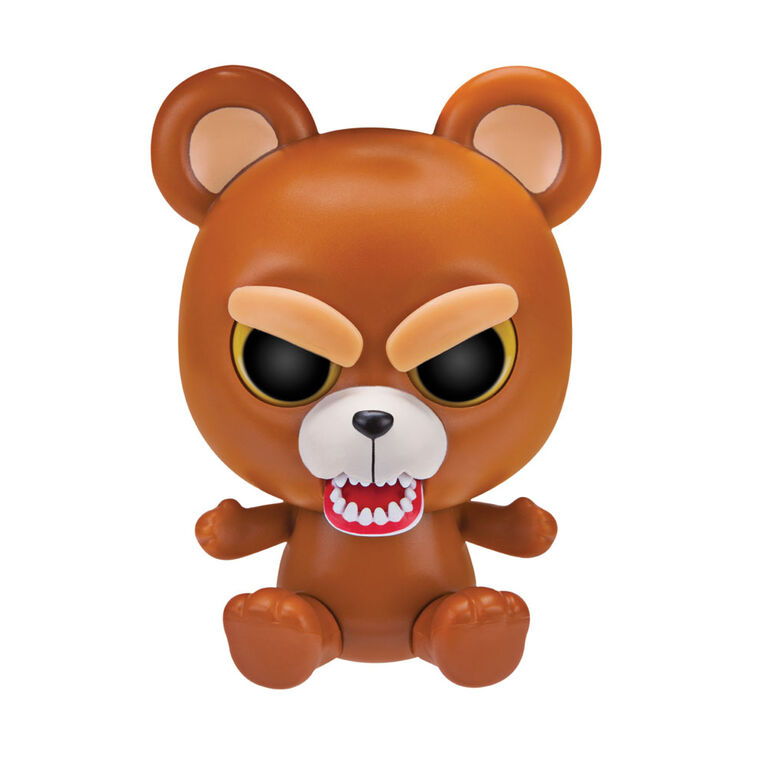 "Feisty Pets 4"" Vinyl Sir Growls-A-Lot Brown Bear"