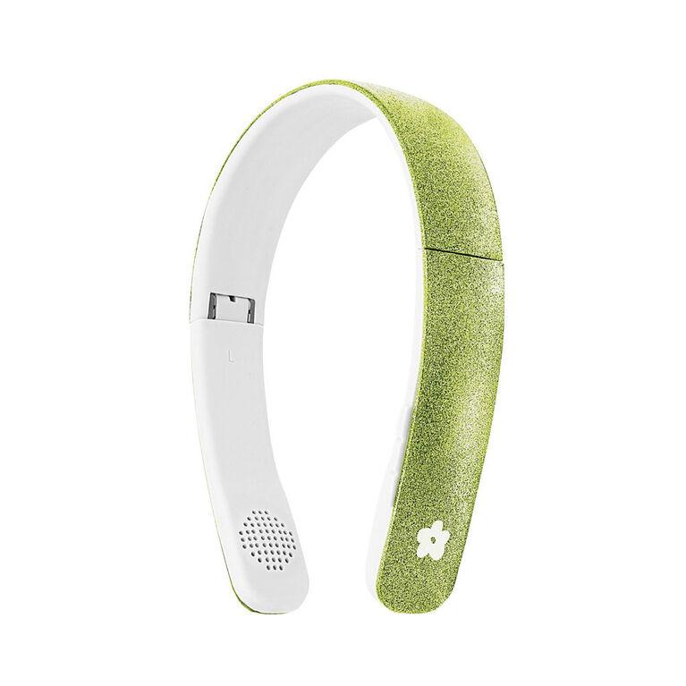 """Casque d""""écoute Bluetooth sans fil bombe de scintillement - vert"""