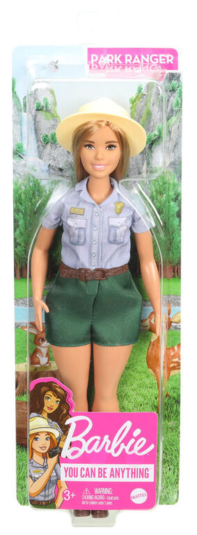Barbie Blonde Curvy Park Ranger Doll with Ranger Outfit & Straw Hat