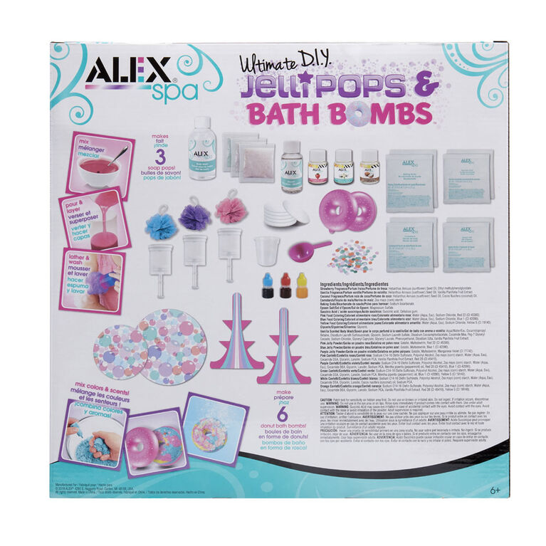 Alex Spa Ultimate DIY Jelli Pops and Bath Bombs