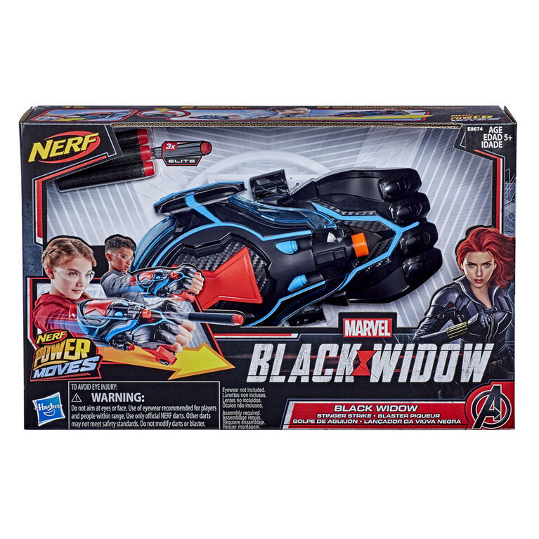 Marvel, Blaster aiguillon Black Widow, lance-fléchettes NERF