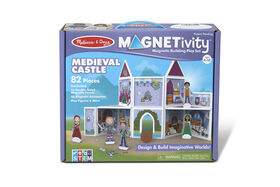 Melissa & Doug 82-Piece MAGNETIVITY Magnetic Building Play Set – Medieval Castle