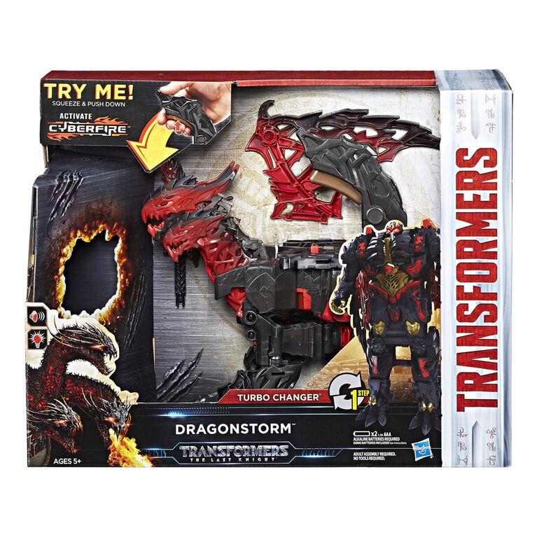 Transformers The Last Knight Mega 1 Step Turbo Changer Dragonstorm