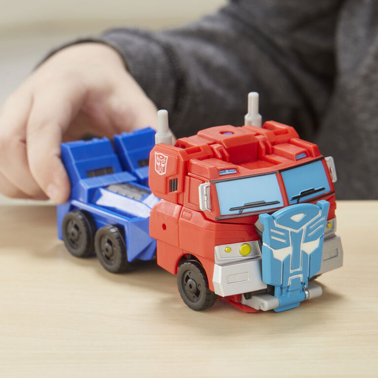 Transformers Cyberverse Action Attackers - Figurine Optimus Prime de classe ultra