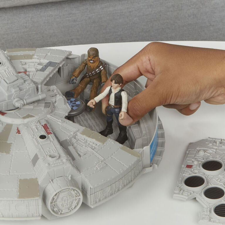 Star Wars Mission Fleet Han Solo Millennium Falcon 2.5-Inch-Scale Figure and Vehicle