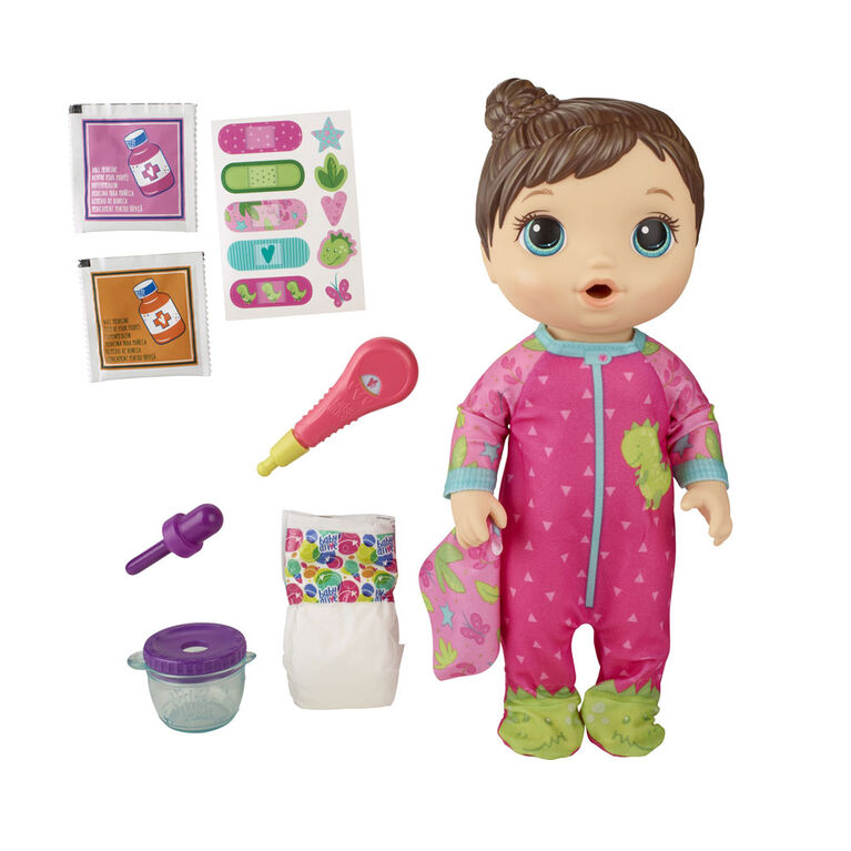 Baby Alive Mix My Medicine Baby Doll Brown Hair