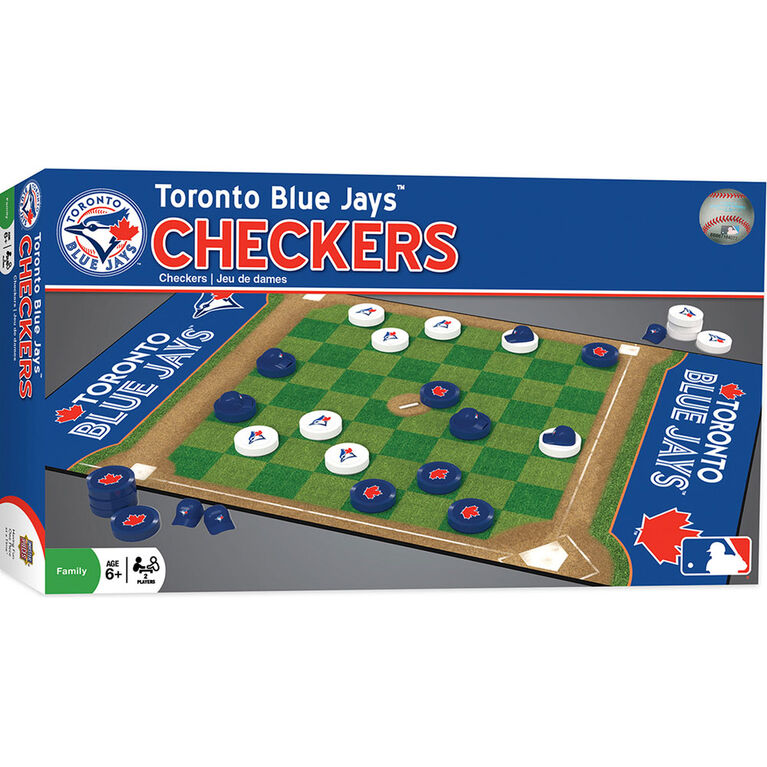 Toronto Blue Jays Checkers Board Game