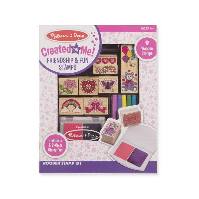 Melissa & Doug Created by Me! Wooden Friendship & Fun Stamp Set