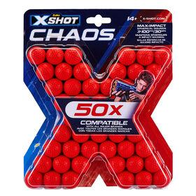 Pack de recharge X-Shot Chaos (50cartouches) par ZURU