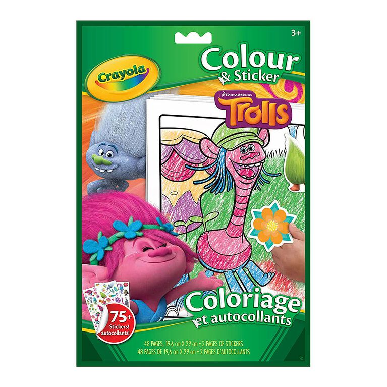 Colour & Sticker Book, Trolls