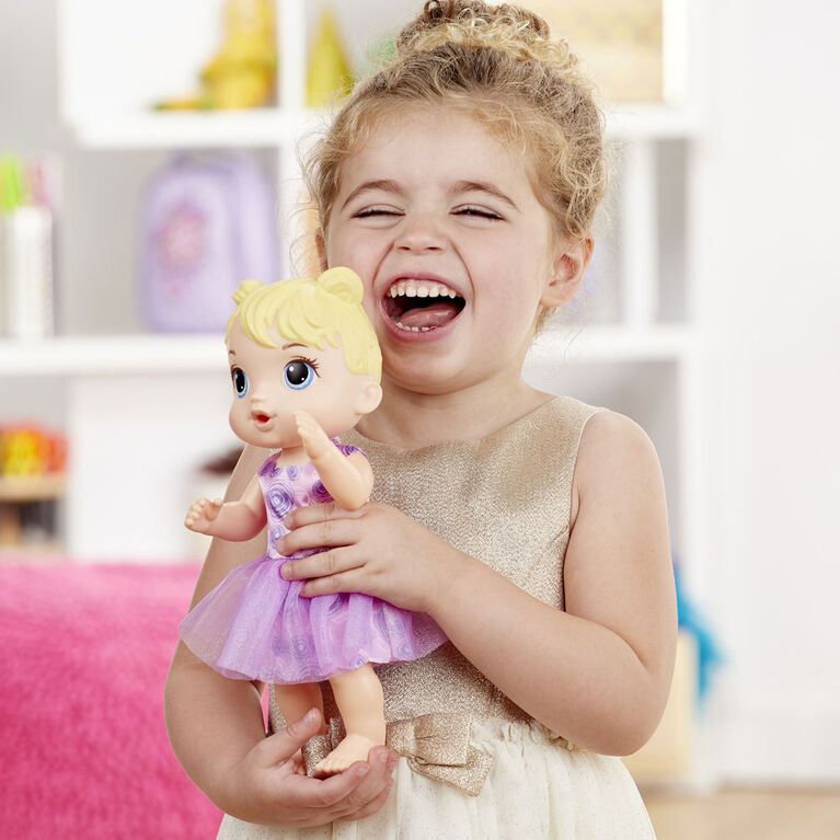 Baby Alive Party Presents Baby Blonde Hair Doll with Birthday Cupcake and Surprise Accessories - R Exclusive