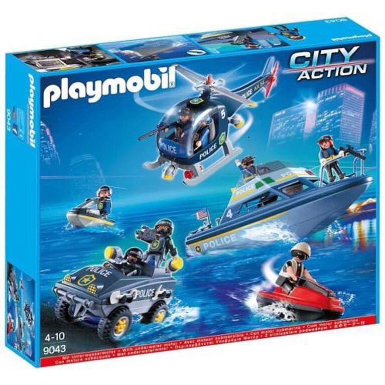 Playmobil - Véhicules des forces spéciales de police  (9043) - Notre exclusivité