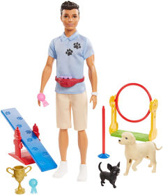 Ken Dog Trainer Playset with Doll and Accessories