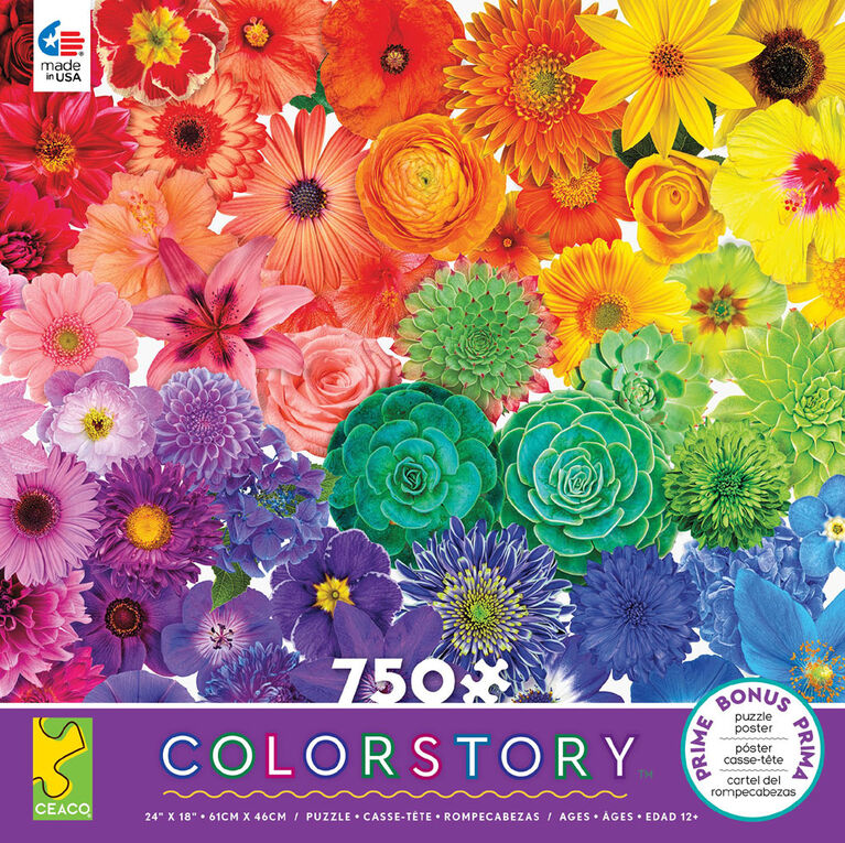 Ceaco: Colorstory - Flower Power Jigsaw Puzzle (750pc)