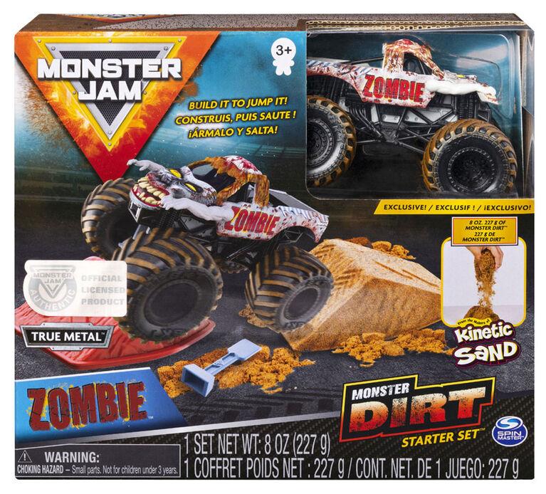 Monster Jam, Zombie Monster Dirt Starter Set, Featuring 8oz of Monster Dirt and Official 1:64 Scale Die-Cast Monster Jam Truck