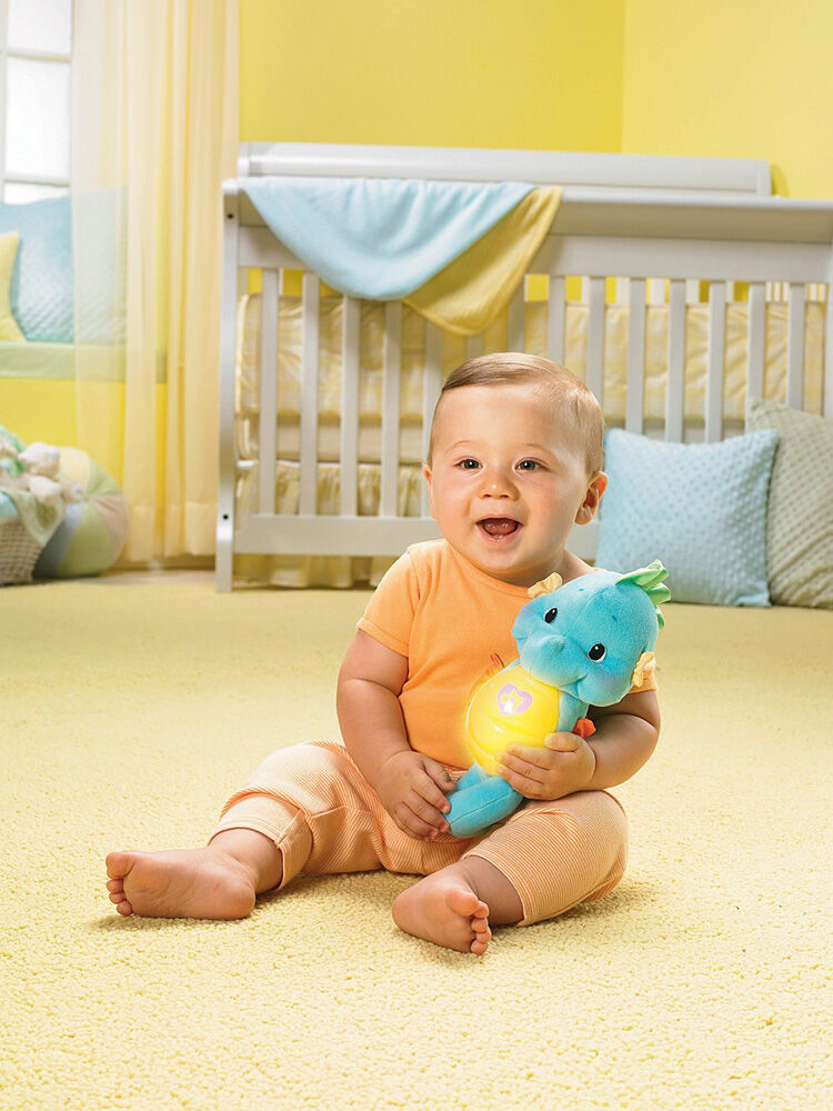 Blue Fisher-Price Crib Toys /& Attachments Soothe Glow Seahorse