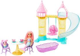 Barbie Dreamtopia - Poupée Chelsea Sirène figurine - Cofferet De Jeu.