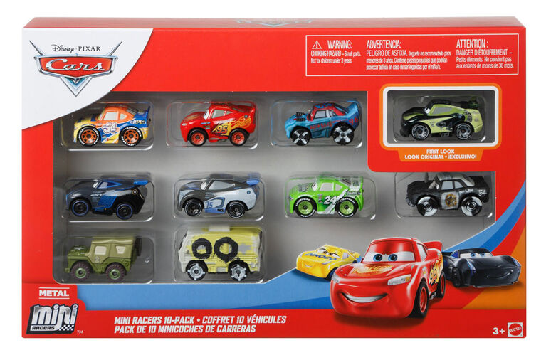 Disney/Pixar Cars Mini Racers 10-Pack, Compact, Movie-themed Racing Toys
