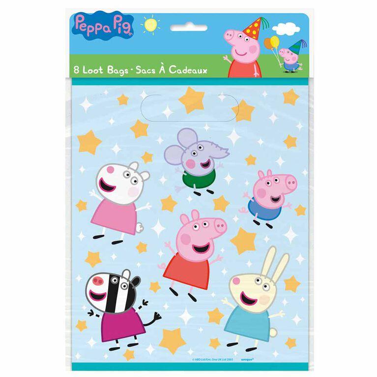 Peppa Pig Loot Bags, 8 pieces
