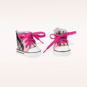 Our Generation, Plaid All Over, High-top Shoes for 18-inch Dolls
