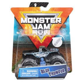 Monster Jam, Official Blue Thunder Truck, Die-Cast Vehicle, Over Cast Series, 1:64 Scale