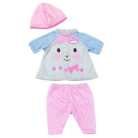 Baby Annabell - Tenue amusante de my first Baby Annabell - Gris/rose - Notre Exclusivité