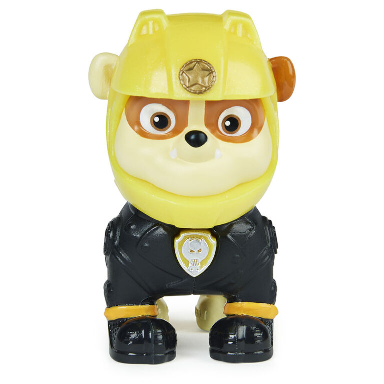 PAW Patrol, Moto Pups Rubble Collectible Figure with Wearable Deputy Badge