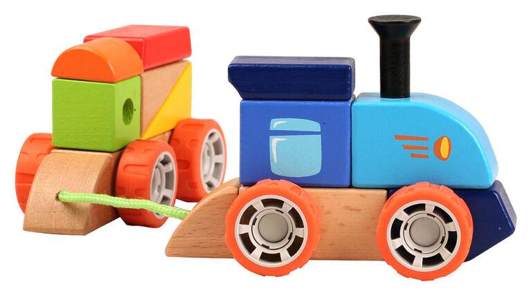 Imaginarium Discovery - Train à empiler en bois
