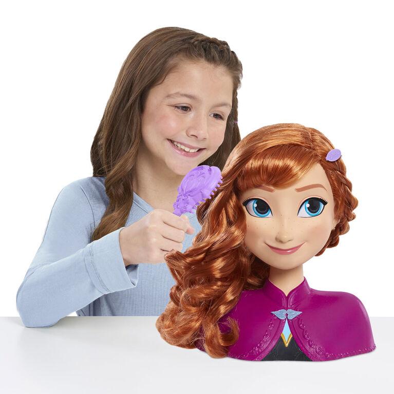 Tête de Coiffure d'Anna de La Reine des Neiges de Disney