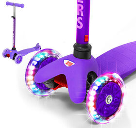 Rugged Racer Mini Deluxe 3 Wheel Kick Scooter - Purple - English Edition