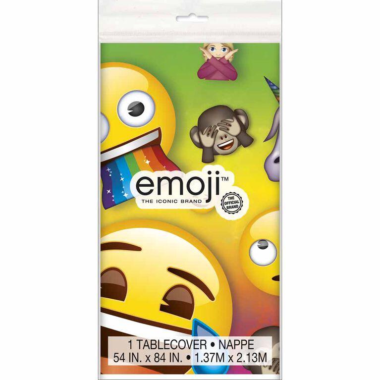 "Rainbow Emoji Nappe en Plastique 54"" x 84"""