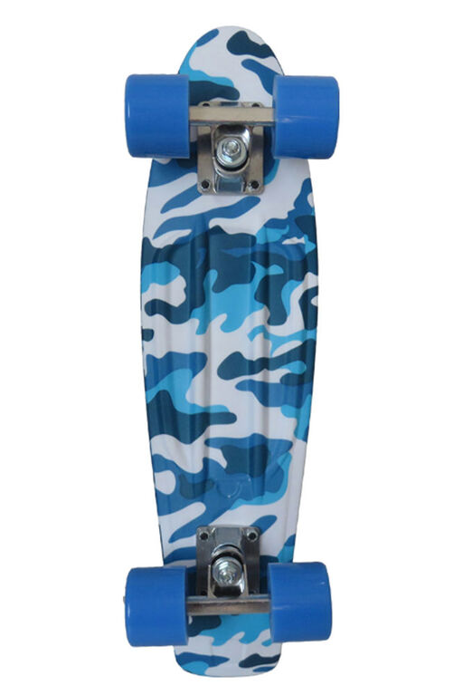 "Sport Runner 225"" Prints Skateboard - Blue Camo - R Exclusive"