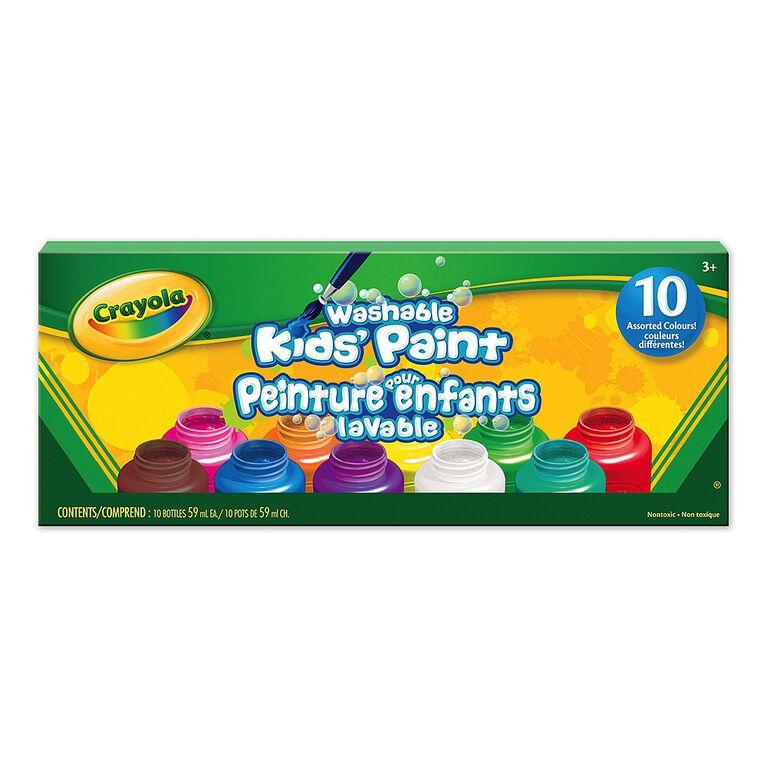 Crayola peinture pour enfants lavable, 10 ct