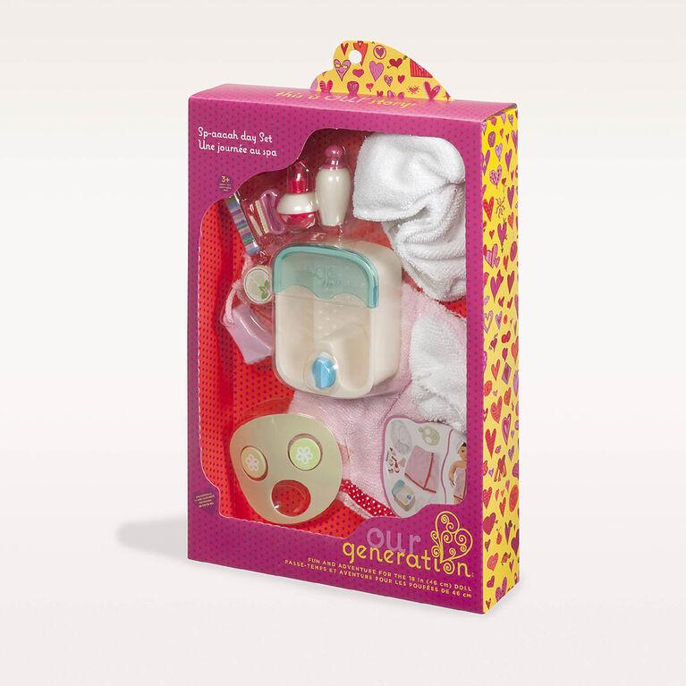 Une Journée Au Spa, Our Generation, Accessoires de spa pour poupées de 18po