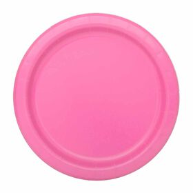 """Hot Pink  7""""  Plates 8 pieces"""