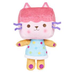 DreamWorks Gabby's Dollhouse, 8-inch Baby Box Cat Purr-ific Plush Toy