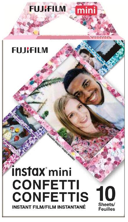 Film instantané Confettis Instax Mini de Fujifilm - Paquet simple (10 POS)