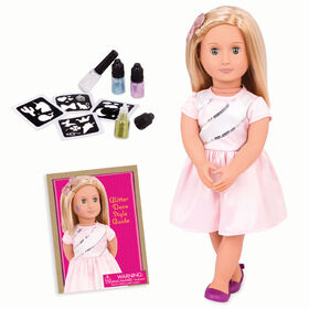"Our Generation, Rosalyn, ""My Time To Shine"", 18-inch Deco Doll with Glitter Tattoos"