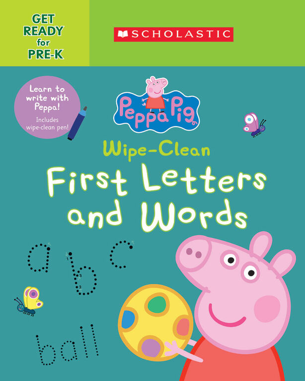 Scholastic - Peppa Pig: Wipe Clean First Letters and Words - English Edition