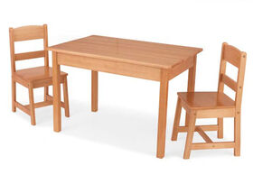 KidKraft - Rectangle Table & 2 Chair Set - Natural